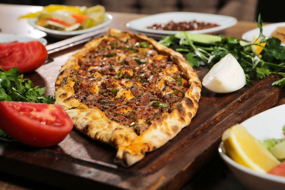 Traditional turkish baked dish pide
